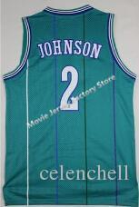 finest selection 90ebc cdae3 2017 #1 Muggsy Bogues Jersey #2 Larry Johnson Jersey Classics Green/Purple  Stripe Men'S Throwback Baseketball Jerseys S Xxl From Celenchell, $17.08    ...