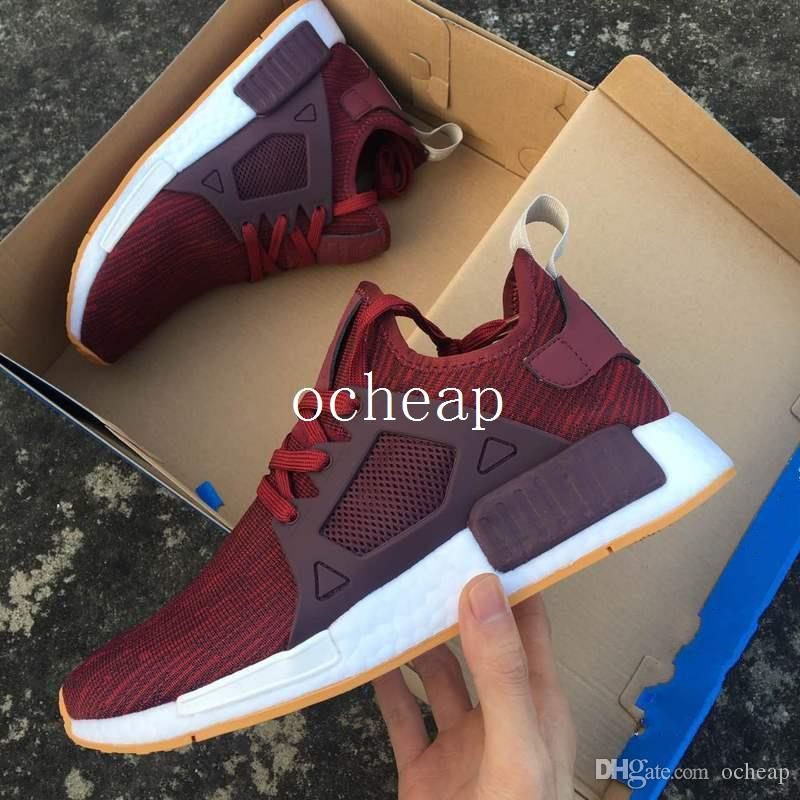 super popular 04c3d 51d07 Cheap Nmd Xr1 Triple White Running Shoes Mens Womens Nmd Xr1 Maroon  Burgundy Triple Black Sneakers High Quality Size 36 45 Shoes For Men Mens  Running ...