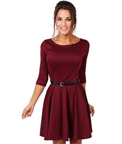 Long sleeve mini skater dresses