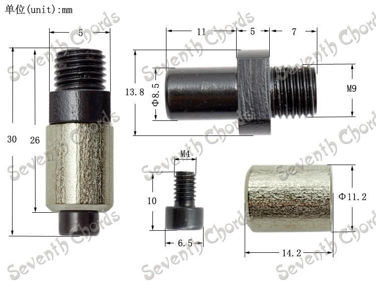 Spectrum SX - tremolo arm New-style-floyd-rose-tremolo-arm-socket-whammy-bar-jack-for-electric-guitar-tremolo-bridge-(thread-diameter-9mm)
