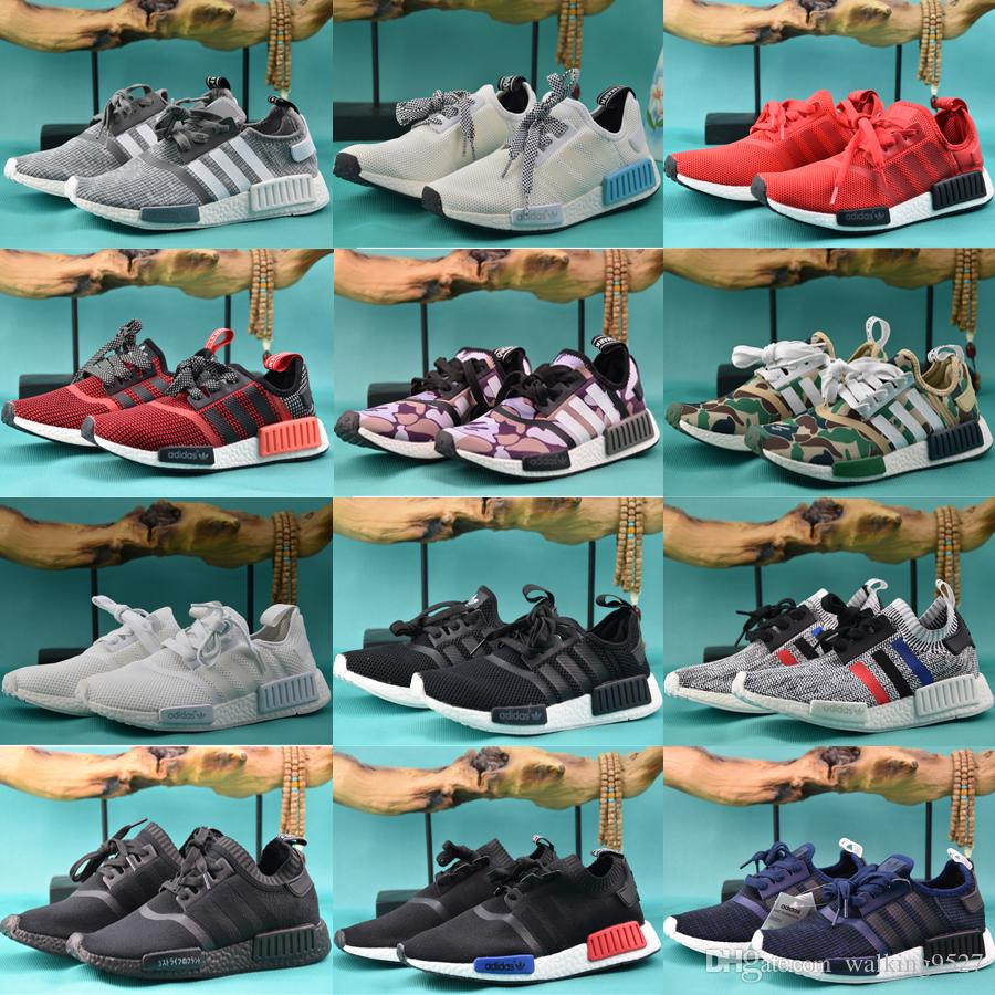 2017 adidas MENS NMD Runner R1 Mesh Triple Salmon City Paclk Men Women Running Shoes Sneakers Original NMDs Runer Primeknit Sports Shoes