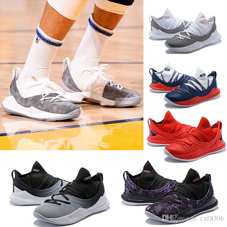 0f5e57d55dd DHGATE.COM. 2018 NEW STEPHEN CURRY 5 LOW BASKETBALL SHOES MEN SNEAKERS HIGH  QUALITY PI DAY ...