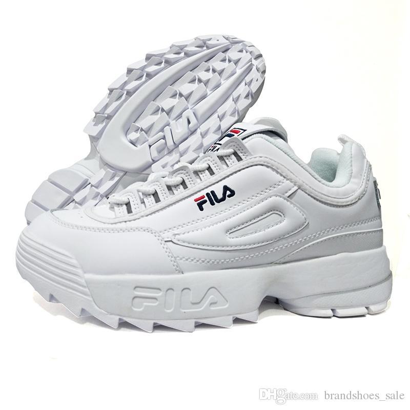 3206ab9c6d FILA Disruptors II 2 Men Running Shoes Retro Sports Sneaker Non Slip  Damping Summer Footwear for Women Increase Shoe