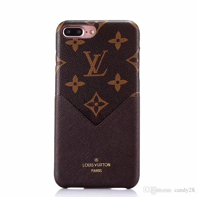Fashion Luxury Leather Plug Card Phone Case For I Phone X & Iphone 6 6plus 7/8 7/8plus Soft Protect Shell Cellphone Case Back Cover by D Hgate.Com