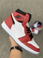 209542cd54622d 2019 Released Authentic 1 High OG Spider Man Chicago Crystal Red White Mens  Basketball Shoes Sports Sneakers 555088-602 With Box