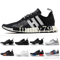 b0be1a34cc707 Wholesale nmd runner r1 black online - Fashion Designer Luxury Shoes Men Nmd  R1 Women Wave