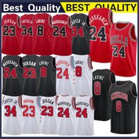ae8ac1496771 Mens chicago 23 MJ Home Retro jersey 8 LaVine Zach 24 Markkanen Lauri 34  Carter Wendell Jr. Red Jersey bulls stitching Top quality