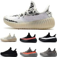8db898541 2019 Kanye West Static 350 Infant Kids running shoes Cream White BELUGA Children  Sports shoes toddler trainers boy girl Child Bred sneakers