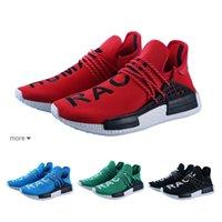 c52ddb9fb 2019 Human race Hu trail x pharrell williams Nerd running shoes for men  black white blue green cream mens trainers sports sneakers