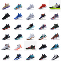 fd5a96a9e059 Cheap mens kyrie 5 basketball shoes Black gold blue team red green easter  bhm orange kyries irving sports sneakers boots with box size 7 12