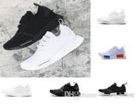 dec3d2377cc8c Classic Runner R1 Pk Og Japan Triple Black White Men Women Running Shoes  Sneaker Nmd Runner Primeknit Mens Trainer Sports Shoes