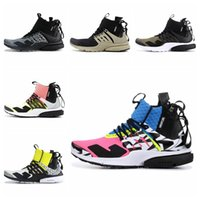 check out 72feb a9404 2019 Acronym x Presto Mid Running Shoes for Men Women Hot Lava Dynamic  Yellow Racer Pink Cool Grey Mens Trainer Sports Sneakers 36-45