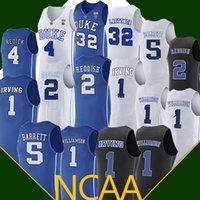 4ba736db578a ncaa 1 Zion Williamson Duke Blue Devils College 2 Cam Reddish 5 RJ Barrett  besketball jersey Embroidery Logos Basketball 100% Stitched