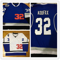 7bd377e450a9 2017-18 New Style Los   Kings Combination 32 Koufax Mix Style With King  Patch Stithced Hockey Baseball Jerseys