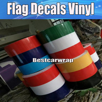 Wholesale car body lining sticker online - Germany France Italy Flag Hood Stripes Car Stickers Decal for Bonnet Roof Trunk for Volkswagen Mini DIY Car decals cmx30m Roll