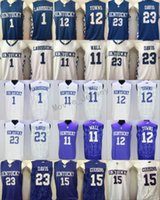 0f14e187aed 2018 College Kentucky Wildcats Basketball Jerseys 11 John Wall 23 Anthony  Davis 1 Skal Labissiere 15 DeMarcus Cousins 12 Karl-Anthony Towns