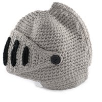 a72022726223d 1 PC New Fashion Womens Men Crochet Knitted Winter Warm winter man hat  Beanie Wool Roman Knight Helmet Hat Cap