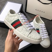 7c91c5d233c top boxed men or women g06 unisex mens womens gucci bees ace embroidery  printing white Genuine leather shoes sneakers