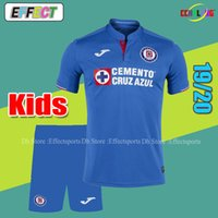 bbea434d1d3 2019 Cruz Azul Soccer Jerseys Men Kits Liga MX Camisetas de Futbol Football  Shirt Home Blue Away White GIMENEZ 10  Adult Youth kids Sets