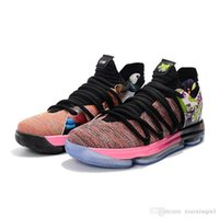 cff0488ab56c Mens KD 10 basketball shoes for sale MVP Red Velvet Platinum multicolor  Hyper Turquoise Kevin Durant X low kids boots with original box