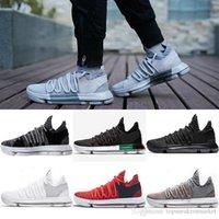 huge discount 6fefd 4fcb8 Basketball Shoes Mens Kd 10 Sport Sneakers Triple Black White Bhm Oreo  Anniversary Red Multi Color Elite Durant Big Us 7-12