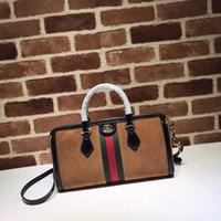 9324c34d8c9 2019 Top Quality Brand design Letter Ribbon Metal Buckle Shoulder Bag  Deerskin whide Leather Woman 524532 Large Tote Handbag