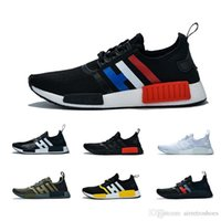 5383a814a9c0b 36-47 Tri-color Nmd R1 Atmos Thunder Bred Running Shoes Runner Primeknit Og  Military Green Men Women Red Marble Runner Sports Sneakers 36-45