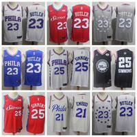 654073057fb Top Good quality Jimmy 23 Butler Philadelphia Ben 25 Simmons jersye 76ers  jerseys Joel 21 Embiid Basketball Jerseys