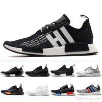 673d28484 R1 Nmd 2019 Atmos Thunder Bred Running Shoes Oreo Runner Primeknit Og Atmos  Japan Triple Black White Men Women Runner Sports Sneakers 36-45