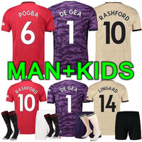 Wholesale soccer jerseys for sale - Group buy 19 Men and kids kit manchester lukaku soccer jersey home Man pogba alexis RASHFORD LINGARD united football shirt