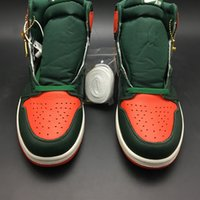 100% authentic 92717 07d4a SoleFly x Air 1 High OG Sail Team Orange Fir AV3905-138 1s I Men Basketball  Sports Shoes Sneakers Top Quality With Original Box
