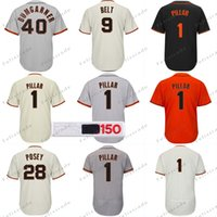 d0021de43e3b 1 Kevin Pillar 150th Patch San Francisco Buster Posey Brandon Belt Crawford  Steven Duggar Madison Bumgarner Evan Longoria Joe Panik Jersey