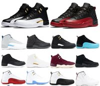 5098f1266ffa 12 12s Mens Motorcycle Boots CNY Chinese New Year Michigan Wntr Gym Red NYC  OVO Wool XII Designer Shoes Sport Sneakers Trainers 40-47