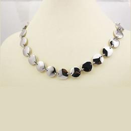 a479d67e7a72 Plata grueso collar de bisutería en venta-Nuevo Trendy Round Link de acero  inoxidable de