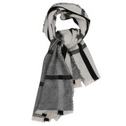 Noir et Blanc Double-face faux Cachemire écharpe