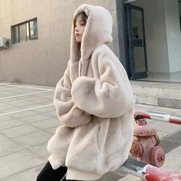Nouveau élégant homme fausse fourrure manteau à capuche fourrure fermeture éclair hiver chaud plus taille veste