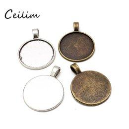 25mm blank Raw Brass Pendant Blank Mosaic Base Blank inlay Blank Necklace Blank Resin Blank Mountings Cabochon Bezel Base G12959