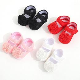 Nourrisson Bébé Filles Fleur Applique Prewalker Semelle Souple Sandales unique Chaussures