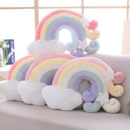 Rainbow unicorn émotive Coussin Enfants Chambre Salon Décoration Cadeau NOUVEAU