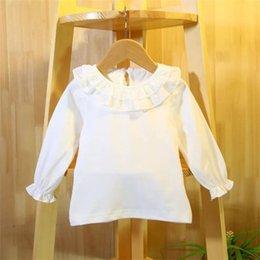 Camisa Blanca Con Cuello Volante De Niña Oferta Online Dhgate Com