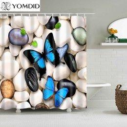Summer insecte papillon beauté salle de bains moderne étanche bain Rideau de douche