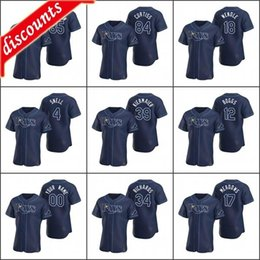 Tommy Pham Tampa Bay Rays Navy Youth 8-20 Cool Base Alternate Replica Jersey