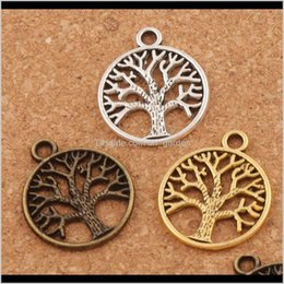 BULK 100 Bronze TREE of Life Circle Charms Instant Ship USA 6490 25mm Antiqued Bronze Round Textured Tree of Life Connector Link Pendant