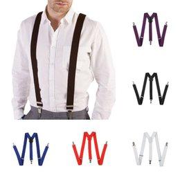 Unisex Adjustable Slim Trouser Suspenders Braces Clip On PU Leather Fancy Dress