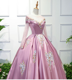 100%real 18th century ball gown bean pink queen medieval dress Renaissance  gown queen Victoria dress Antoinette Belle Ball can customs size 0f3d8d56c2fe
