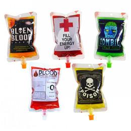 5* PVC Halloween Blutbeutel Vampir Ereignis Blut Energie  Beutel Getränk Taschen