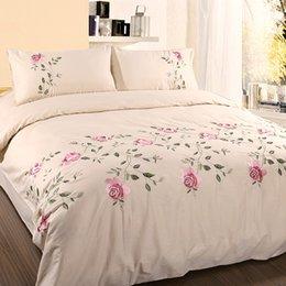 Double Couche Floral Rose Brodé Plaid//Couverture