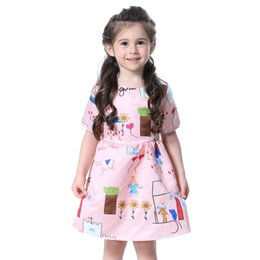 d5e0b12bd 2019 hot new foreign trade digital print princess dress girl Korean  princess dress