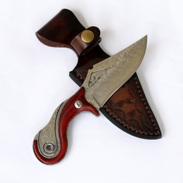 Coltello fatto a mano in acciaio damasco con guaina Lama modello nuovo di alta qualit/à damasco 9464 Coltelli damasco
