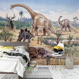 Papier Peint Dinosaure 210x140cm papier peint avec atomes Dino la fresque Chambre Enfant